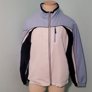 Aspire, large summer jacket,  net lined,  blue/whi